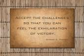 Patton Quote: accept the challenges — Stock Photo
