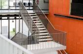 Stahlkonstruktion für die treppe — Stockfoto