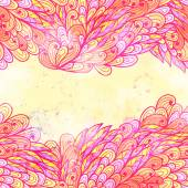 Hand drawn seamless pink invitation card — Stock Vector