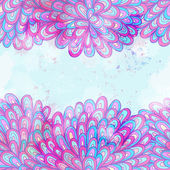 Hand drawn seamless pink and blue invitation card — Wektor stockowy
