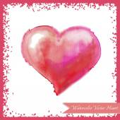 Pink watercolor heart — Stock Vector