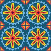 Modello senza cuciture patchwork etnico geometrico — Vettoriale Stock