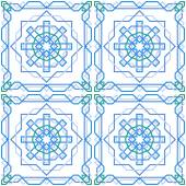 Seamless geometric pattern with traditional arabian ornament — Vector de stock