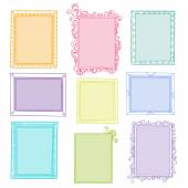 Collection of floral frames — Stock Vector