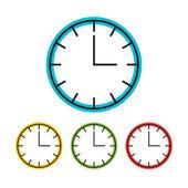 Barevné hodiny ikony — Stock vektor