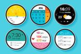 Digitální obrazovky pro smartwatches — Stock vektor