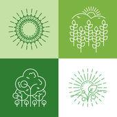 Organické ikony a loga — Stock vektor