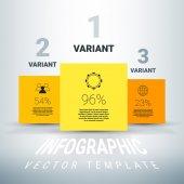 Orange infographics rutorna — Stockvektor