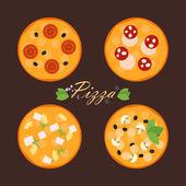 Läckra läckra pizza — Stockvektor