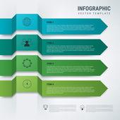 Färgglada infographics med band — Stockvektor