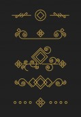 Vintage kalligrafiska dekorationer — Stockvektor