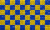 Flag of Surrey painted on brick wall — Stock Photo