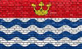 大伦敦国旗画在砖墙上 — 图库照片