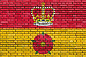 Flag of Hampshire painted on brick wall — Stock Photo