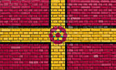 Flag of Northamptonshire painted on brick wall — Stock Photo
