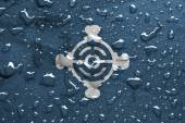 Flag of Chuo with rain drops — Stockfoto