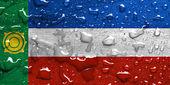 Vlag van Chakassië met regen druppels — Stockfoto