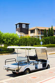 Cart in territory of hotel, Greece, Peloponnese — Stock Photo