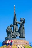 CHEBOKSARY, CHUVASHIA, RUSSIA MAY, 9: Monument of Heroes in the Park of Victory on May 9,2014. Chebokasary capital of Chuvash Republic. administrative, scientific, industrial and cultural center — Stock Photo