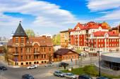 Kazan, Russia - 8 maggio 2014: Karl Marx Street, Tatarstan, Russia. Una delle strade nel centro storico della città di Kazan — Foto Stock