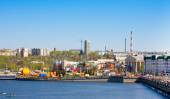 CHEBOKSARY, CHUVASHIA, RUSSIA MAY,9,2014. View on bay and historical part of city on May 9, 2014. Chebokasary capital of Chuvash Republic, administrative, scientific, industrial and cultural center — Stock Photo