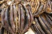 Dried fish on display on a market — Stock Photo