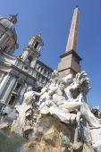 "Fountain ""Fontana dei Fiumi"" in Rome, Italy — Stock Photo"