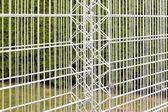 Железные прутья пустой Габионные стенки — Стоковое фото