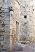Detail of a medieval building in South France, Europe — Stock Photo