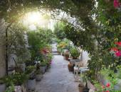 Greek courtyard  — Stock Photo