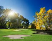 Autumn Landscape. golf — Stock Photo