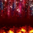 Colorful lights on red background. — Stock Photo #57447079