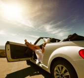 Stay in the car — Stock Photo