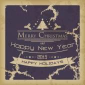 Merry Christmas vintage card — Stock Vector