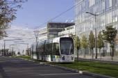 Modern tram in Paris — Stock Photo