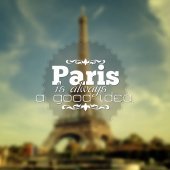 Paris background — Stock Vector