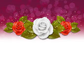 Rose background — Stock Vector