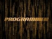 3D Programmer Matrix — Stock Photo