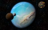 3D Earth like planet — Stock Photo
