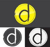 Letter D symbol — Stock Vector