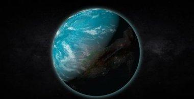 Alien Earth-like planet — Stock Video