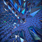 Abstract 3d crystal background. Computer generated image. — Foto Stock