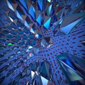 Abstract 3d crystal background. Computer generated image. — Photo