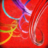 Abstract background with colorful wavy twisted ribbons. 3d rende — Stock Photo