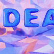 Abstract background with word idea. 3d render with paint effect. — Stock Photo #65624889