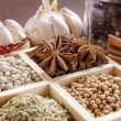 Framed collection of spices — Stock Photo #62586639