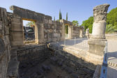 The synagogue of Capernaum — Stock Photo