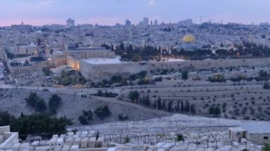 Time-lapse of the temple mount in twilight — Stock Video