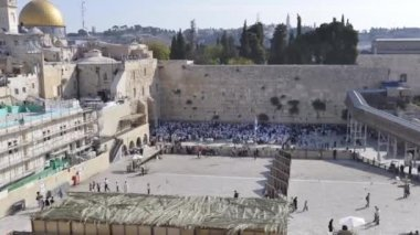 Time-laps of the wailing wall — Stock Video