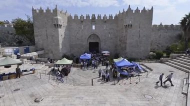 Time-laps of Damascus gate — Stock Video